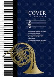 Music Brochure Musical Brochure With Piano And French Horn Royalty Free Vector Clip 17