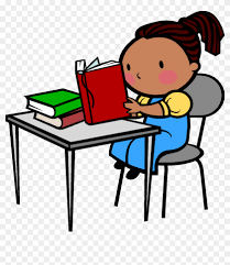 student desk clipart. Simple Student Student At Desk Clipart  Reading Throughout S