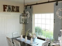 sliding barn door window treatment