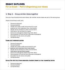 essay outline templates word excel pdf formats essay outline template printable
