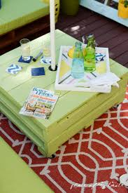 pallets furniture. DIY Pallet Furniture-patio Makeover- Www.placeofmytaste.com Pallets Furniture