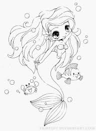 Baby Ariel Colouring Pages Coloring In At - creativemove.me