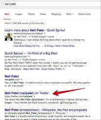 7 key ingredients of a great twitter bio easy to do tips neil patel twitter bio on google