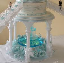 blue wedding cakes fountain.  Blue Castles Wedding Cake With Fountain  By Creative Cakes Clare To Blue Wedding Fountain