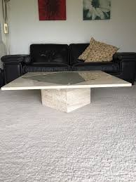 marble coffee table tempered glass and stone base by italian designer mattucci