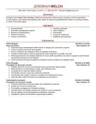 Office Resume Office Clerk