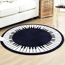 kids round rug creative piano key round carpet living room home round rug for bedroom cartoon