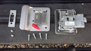 typical door latch parts