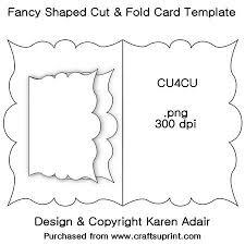 folding card template fancy shaped cut fold card template cup326956_168 craftsuprint