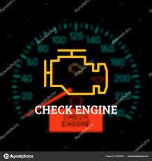 Engine Light Image Check Engine Light Defocused Dashboard Background Vector