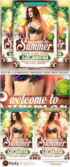 welcome to summer flyer template by hedygraphics graphicriver welcome to summer flyer template clubs parties events