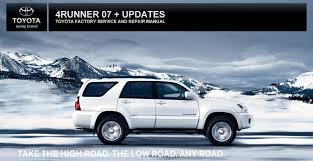 Toyota Factory Service and Repair Manual - 2007 4Runner + Updates