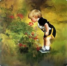 baby oil painting art