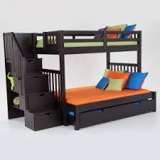 Keystone Stairway Twin/Full Bunk Bed With Bob-O-Pedic 6 Memory Foam