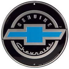 All Chevy blue chevy bowtie emblem : Chevrolet Genuine Bowtie Car Logo Metal Sign | Chevy Garage Decor ...