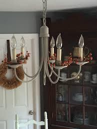 quick chandelier update