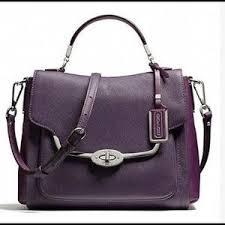 coach Bags - Coach Madison Sadie flap satchel violet color