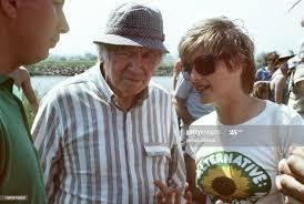 Zukunftsforscher Robert Jungk und Petra Kelly am 20.6.1986 während... News  Photo - Getty Images