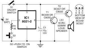 electronic doorbell circuit How To Wire Circuits From Schematics doorbell electronic circuit diagram doorbell circuit Basic Circuit Schematics