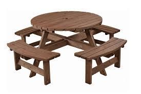 large round picnic table gardenature co uk