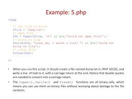 furthermore PHP file create and write using file function also PHP fopen   fwrite   write text file likewise Getting Started   PHP Tools for Visual Studio Documentation likewise Php files additionally Php write to file << Custom paper Writing Service besides  together with PHP from soup to nuts Course Deck further How to Write a Basic Text File in PHP for HTML5 and CSS3 in addition Write a PHP Site Map Generator   YouTube furthermore File Management Basics Part 1 PHP. on latest php write to file