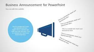 Business Announcement Template For Powerpoint Slidemodel Nurul Amal