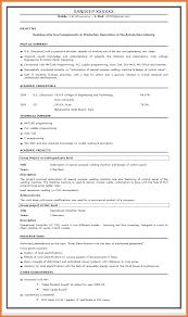 Resume Format For Fresher Sop Proposal