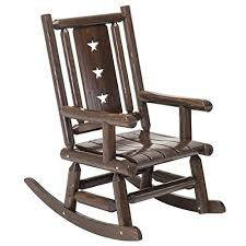 wood outdoor vintage rocking chair