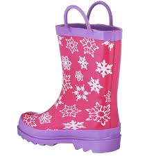 amazon com disney frozen girls anna and elsa pink rain boots