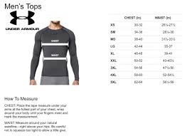 Under Armour Sweater Size Chart Size Chart Under Armour