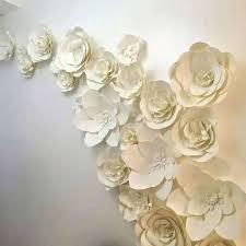 Tissue Paper Flower Wall Art Paper Flowers Wall Art Emanuels Club