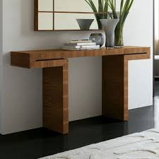 contemporary console tables with the shape and material that