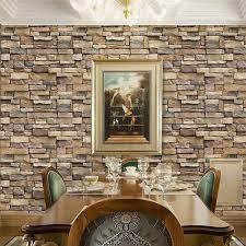 Buy Stone Brick Wallpaper Peel and ...