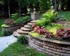 Small Picture Backyard Designs With Retaining Walls Backyard Landscape Design