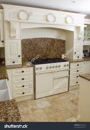 Kitchen Granite Worktop Range Style Cooker Modern Kitchen Interior Stock Photo 50310532