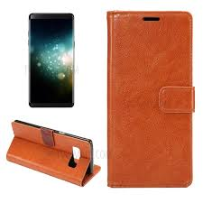 crazy horse wallet pu leather case with stand for samsung galaxy note 8 orange