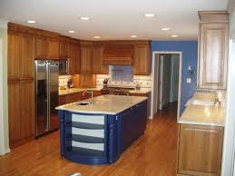 Decoration For Kitchen Walls Blue Kitchen Walls With Brown Cabinets Alkamediacom