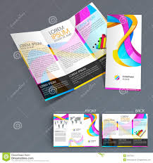 flyer design templates anuvrat info professional business three fold flyer template stock photos