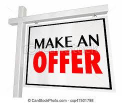 Make A For Sale Sign Make An Offer Home For Sale House Real Estate Sign 3d Illustration