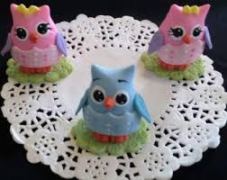 Fondant Baby Owl  Baby Owl Cake Topper  Owl Baby Shower  Cake Baby Shower Owl Cake Toppers