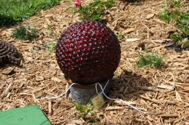 Decorative Marble Balls Garden Garden Art Idea For Great Scheme Red Carving Glass Marble 75