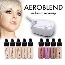 aeroblend airbrush makeup personal starter kit professional cosmetic airbrush makeup system light foundation color match guarantee full 1 year