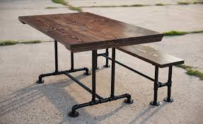 industrial style outdoor furniture. Luxury Diy Industrial Style Dining Table Farmhouse With Metal Pipe Base Kitchen Bookcase Desk Lighting Floor Outdoor Furniture S