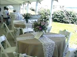round burlap tablecloth tablecloths table cloth with lace runner square overlays full size