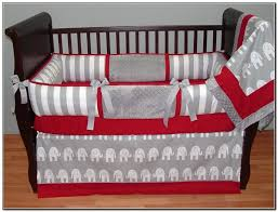 red crib per with elephant pictures for baby boy bedding sets kids bedroom accessories design your