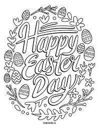 5 Free Printable Easter Coloring Pages For Adults That Will Relieve