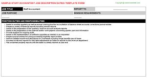 Staff Accountant Job Description Duties