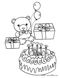 Small Picture Birthday cake teddy bear coloring pages Hellokidscom