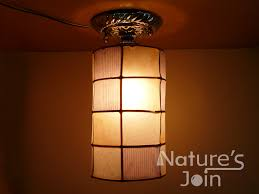 Canopy Light Set Natures Join Ceiling Or Wall Collage Pattern Cylinder