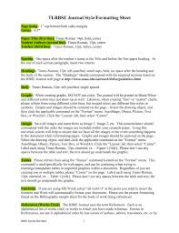 Tlrbse Journal Styleformatting Sheet